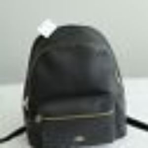 NWT Black Leather Coach Unisex BackPack